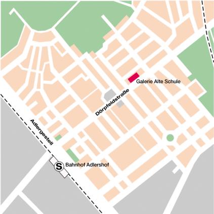 Lageplan Galerie Alte Schule Adlershof